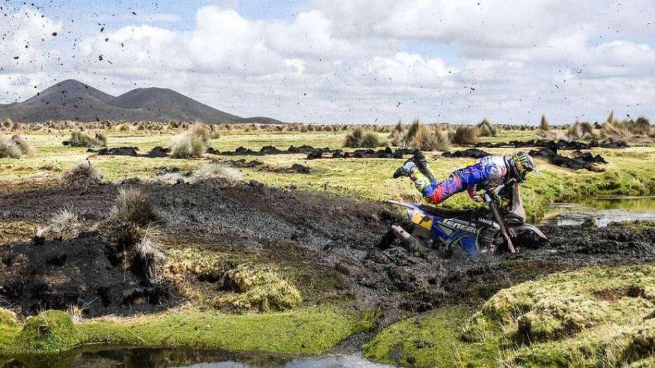 Motos: frustración del mendocino Caimi, tras abandonar