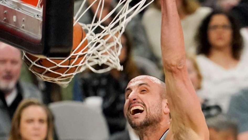 NBA: los Spurs ganaron con una genial volcada de Manu Ginóbili