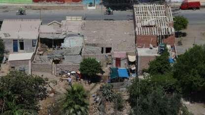 El sismo dañó construcciones en Chala.
