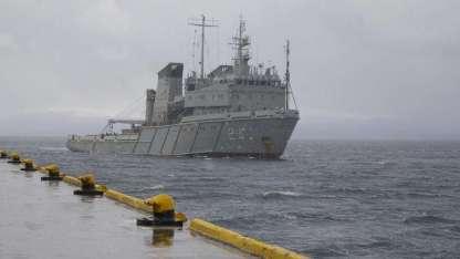 El aviso Islas Malvinas zarpó hoy desde Ushuaia para reincorporarse a la búsqueda.