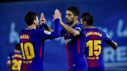 Suárez y Messi fueron importantes para remontar el partido.