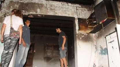 La casa quedó en ruinas tras el incendio.