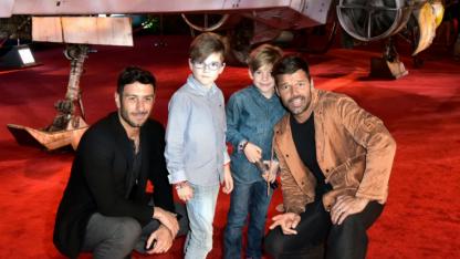Ricky Martin en familia