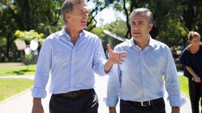 El presidente Mauricio Macri y el gobernador Alfredo Cornejo