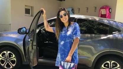 Polémica por el video de Cinthia Fernández manejando con su hija en el baúl