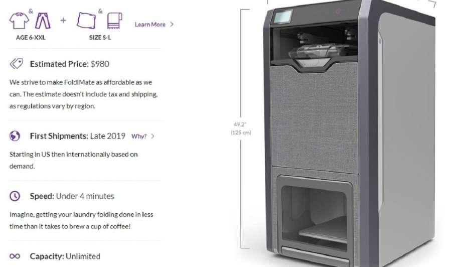 Adesivo De Dente ~ Ya podés comprar la máquina que plancha sola, dobla y perfuma la ropa en cinco segundos