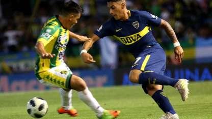 Pavón anotó el primer gol de Boca.