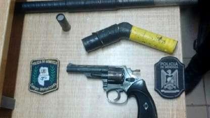 Las armas secuestradas a las mujeres en Las Heras.