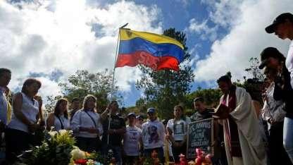 """La tumba de Óscar Pérez, tras el entierro """"blindado""""."""