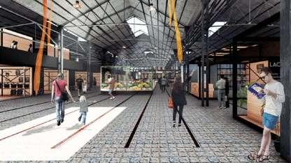 El proyecto ganador muestra cómo se verá el futuro mercado que hoy está en la segunda planta de la Terminal de Ómnibus.