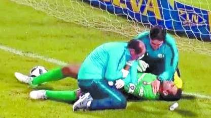 Si bien los estudios revelarán hoy la gravedad de la lesión, se especula que Torrico sufrió una luxación en su hombro.