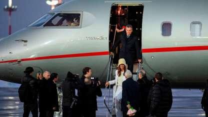 Macri y Awada arribaron a Moscú. Ella se robó todas las miradas.