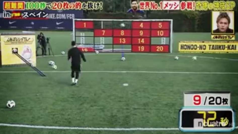 El último desafío de Messi para la TV japonesa