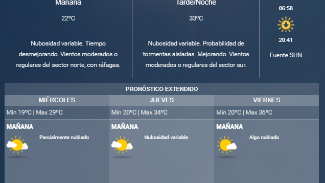 Miércoles con tiempo inestable y caluroso en Mendoza — Pronóstico