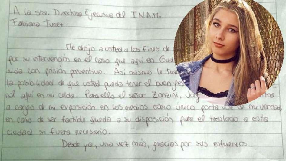 Carta de Nahir Galarza desde la cárcel: pidió ser entrevistada