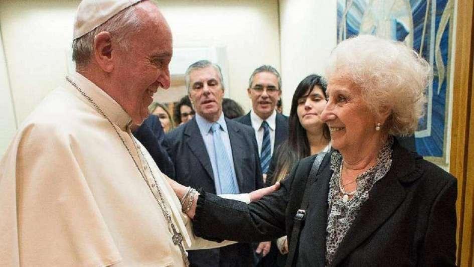 El Papa recibirá el jueves a Estela de Carlotto