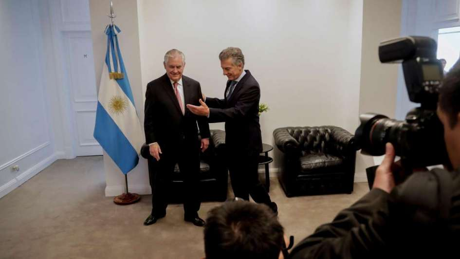 Macri y Tillerson: G-20 y mayor cooperación económica bilateral