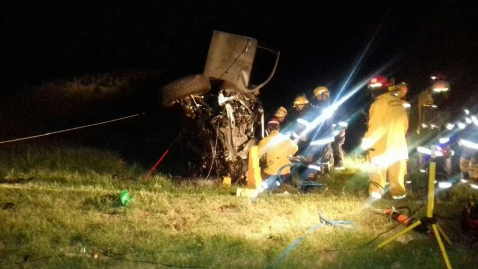 Una familia mendocina se accidentó en la Ruta 7