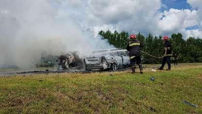 El siniestro vial fatal ocurrió en la Ruta 105, a unos 40 kilómetrpos de Posadas, en las cercanías al peaje Fachinal.