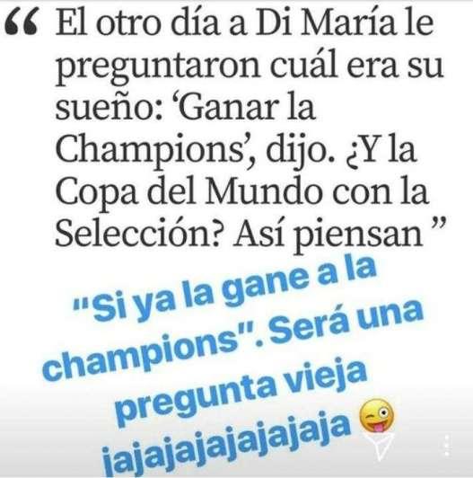 Larespuesta de Ángel DiMaría a Maradona tras las duras críticas