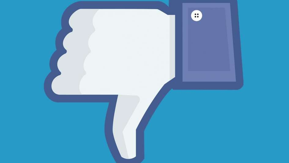 Facebook prueba un botón que da un voto negativo a los posteos