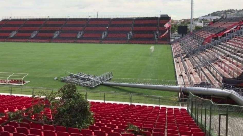 El estadio donde River visitará a Flamengo, destrozado por un temporal