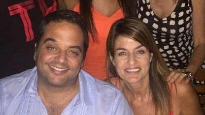 Lorena Triaca junto a su hermano, el ministro de Trabajo.