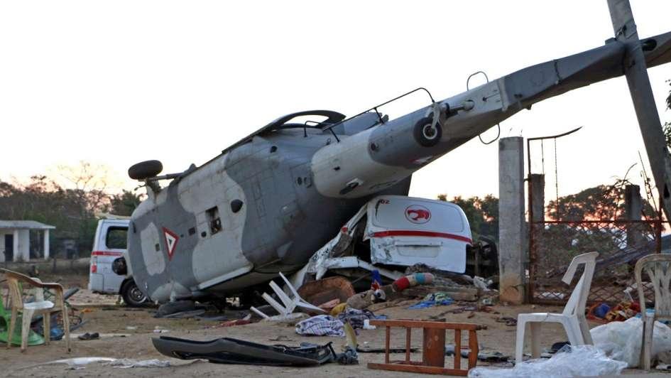 Sedena admite su responsabilidad en desplome de helicóptero