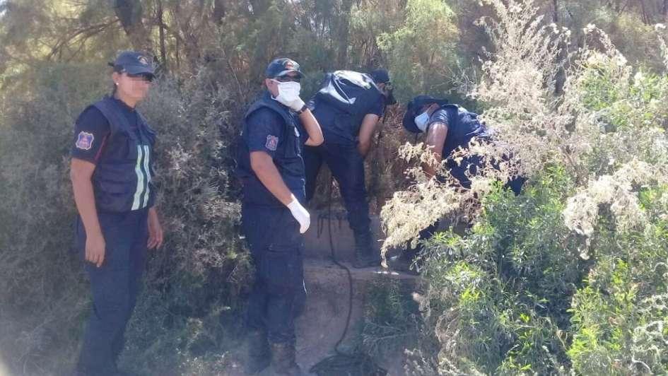 Hallaron el cuerpo de un joven en un basural de Las Heras, donde fue encontrado su primo