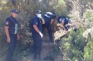 Durante días, policías y bomberos rastrillaron la zona en busca del cuerpo de Quiroz.