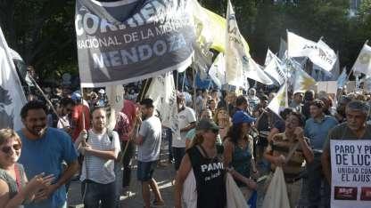 Los manifestantes se congregaron en Garibaldi y San Martín.