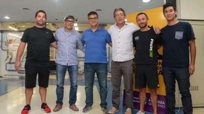 Diego Giménez, Rodrigo Araya, Mauricio Bonfanti, Federico Chiapetta, Federico Santoni y Mariano Mendoza en la presentación de la Asociación.