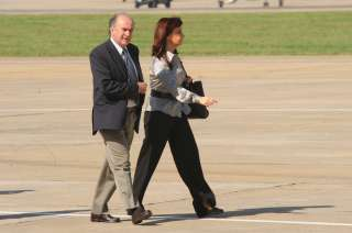 La ex presidenta Cristina Kirchner y su ex secretario general de la Presidencia, Oscar Parrilli.