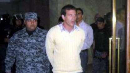 Enrique Montuelle, en uno de los juicios por homicidio en que resultó condenado.