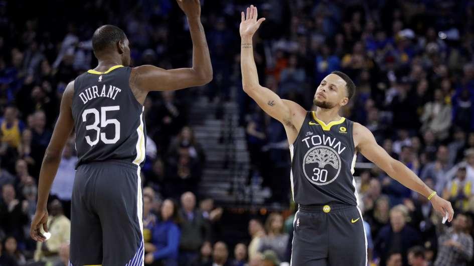 Kevin Durant comandó paliza de Golden State Warriors sobre Oklahoma City Thunder
