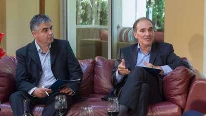 Raul Pedone editor general de Redacción, junto Luis García gerente general de Diario Los Andes.