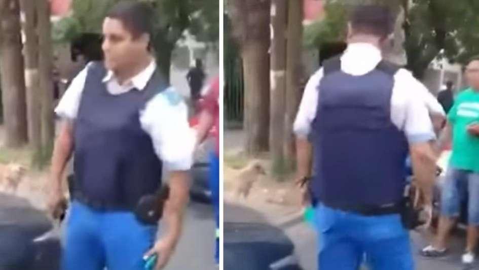 La policía los confundió con ladrones y les baleó el auto