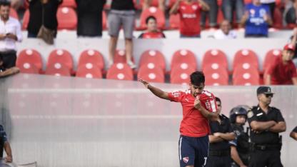 Martín Benítez, quien desvió su penal en la final, fue el autor del gol del triunfo.