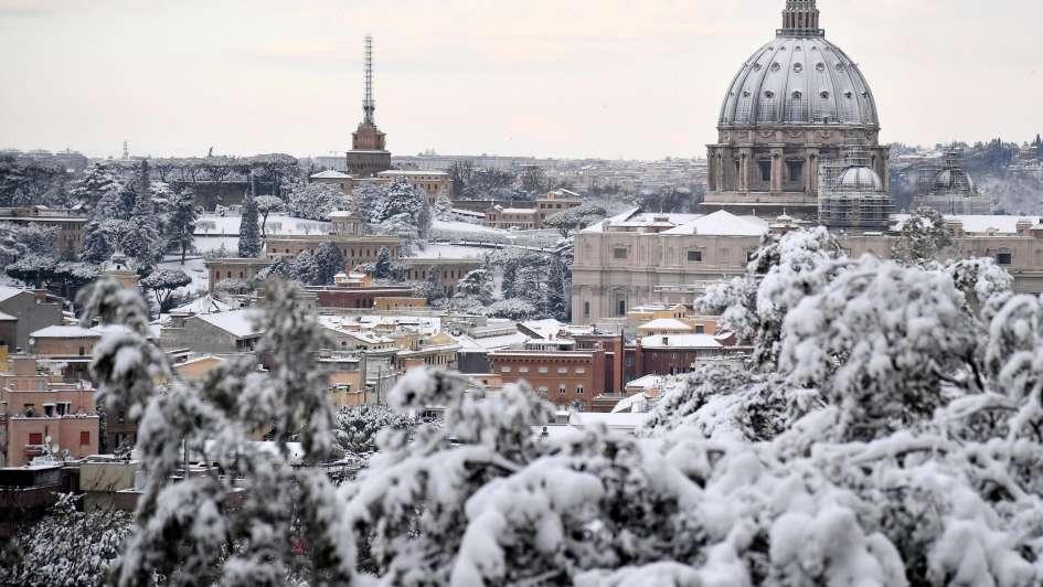 Interviene el ejército: Roma, paralizada por la peor nevada en seis años