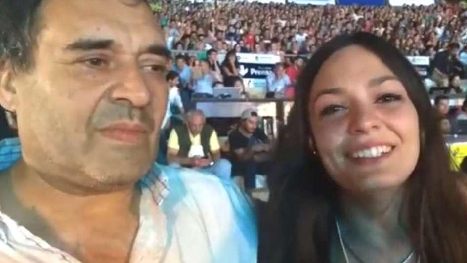 Video: la emoción del padre de la nueva Soberana
