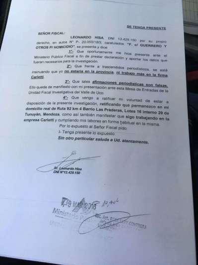 Caso Carleti: el ex marido se puso a disposición de la Justicia