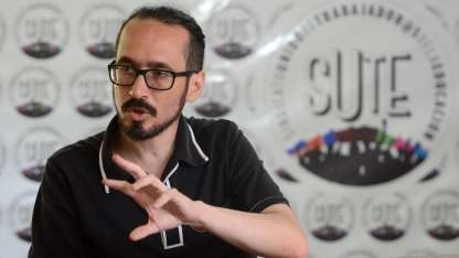 El secretario general del gremio, Sebastián Henríquez.