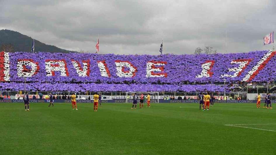 Emotivo homenaje de los hinchas de Fiorentina para Davide Astori