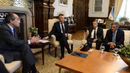 Cornejo participó de la reunión en Casa Rosada.