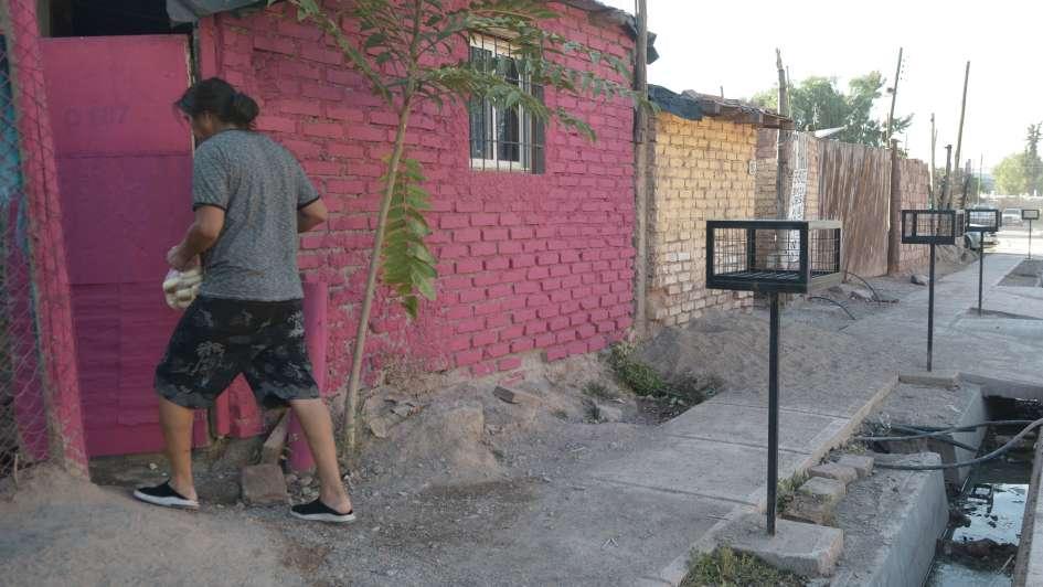 Pintan de colores las fachadas del Flores y Olivares para revitalizar a los barrios
