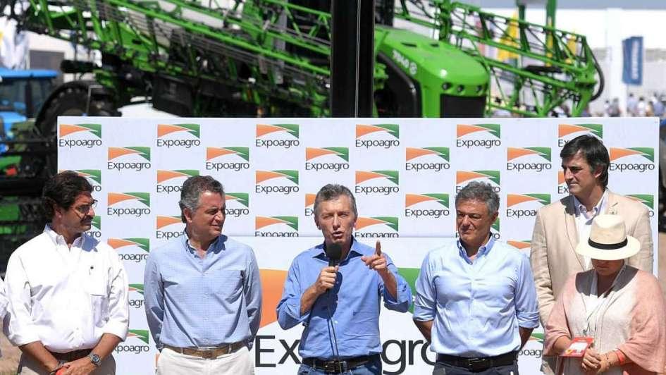 Macri inauguró Expoagro y destacó el rol de la vitivinicultura en la apertura de mercados