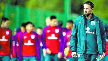El entrenador de los ingleses, Gareth Southgate.