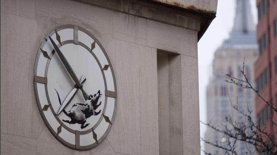 Una nueva obra de Banksy apareció en Nueva York