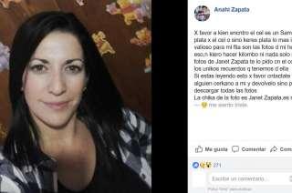 el posteo de la hermana de Janet Zapata.