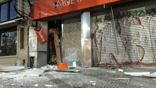 Fuerte explosión en un cajero automático de La Matanza